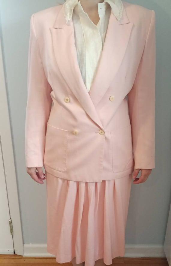 80s power pink suit set!!!