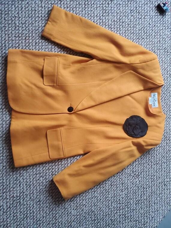 Oleg Cassini 80s Yellow SuitSet