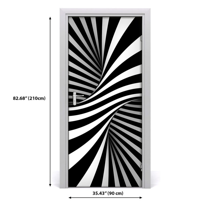 Removable Home Decor Door Sticker Self Adhesive Decal Modern Swirl abstraction  DS/_1588