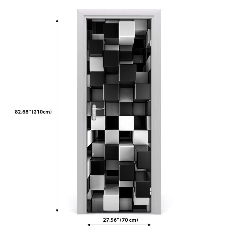 3D Wall Sticker Decoration Self Adhesive Door Decal Mural Cubes abstraction  DS/_2144