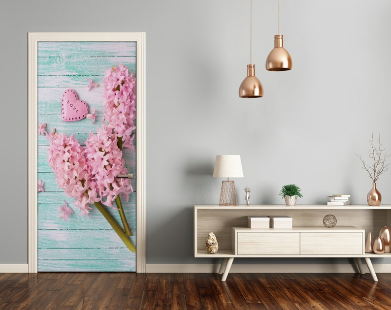 3D Home Art Door Self Adhesive Removable Sticker Flowers Lilac flowers  DS/_1931
