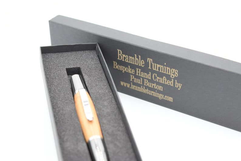 Hand Turned Twist Plum Tree Ball Point Pen