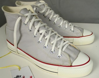 70bb4ff8b80ca7 Rare Vintage Converse All Star Chuck Taylor Made in U.S.A. High-Top Leather  Sneakers
