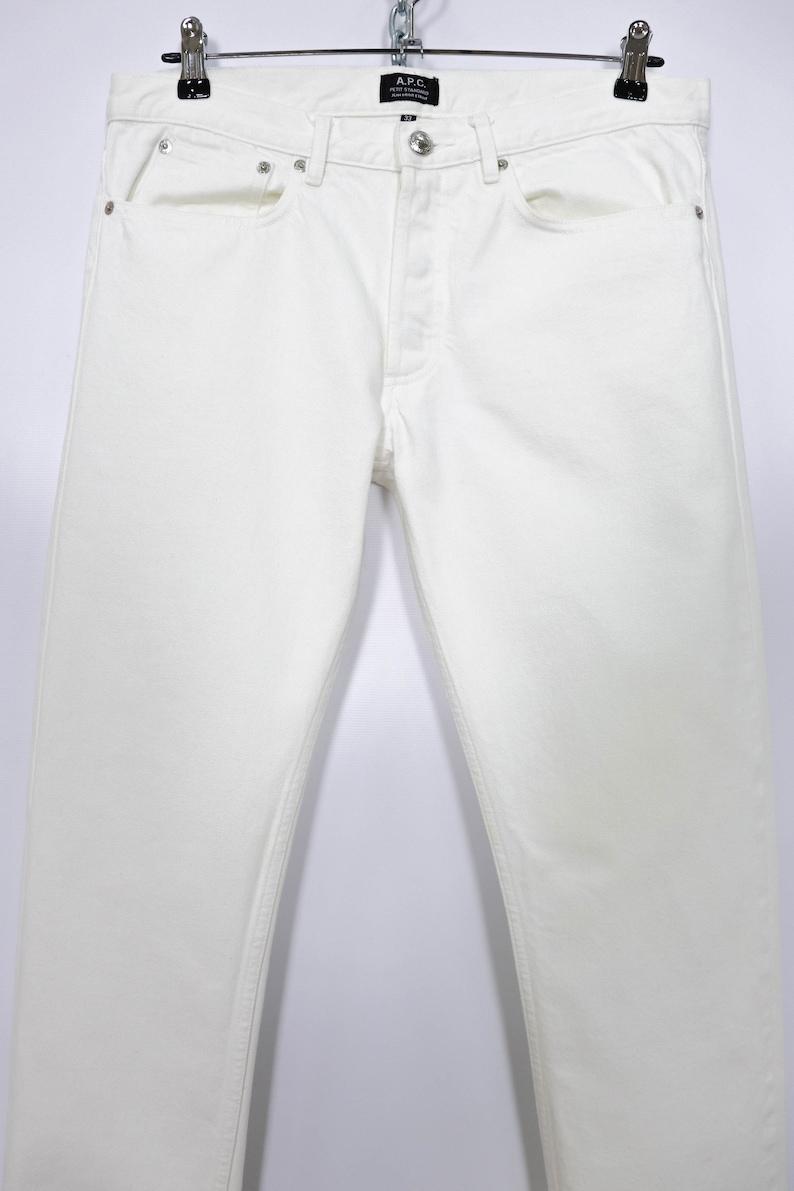 A.P.C Petit Standard Jean Droit Etroit Rare White Selvedge Denim Jeans Pants Size 33