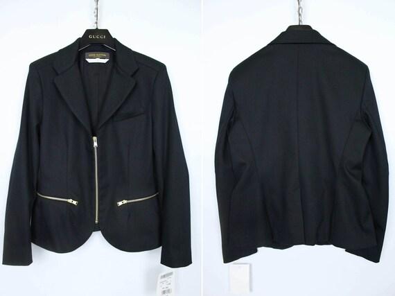 Louis Vuitton Uniformes Women's Rare Black Zip Bla