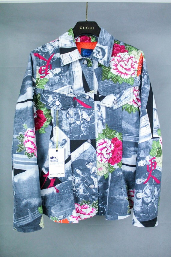 Kenzo Jeans Vintage Women/'s Icons Printed Jacket Size 40
