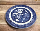 Vintage Blue Willow Johnson Bros Bread and Butter Plate Dessert Plate Appetizer Plate Transferware Ironstone England Dinnerware