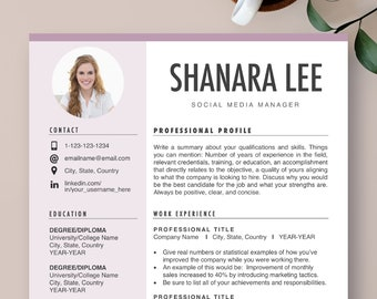 Resume Design Ideas Etsy