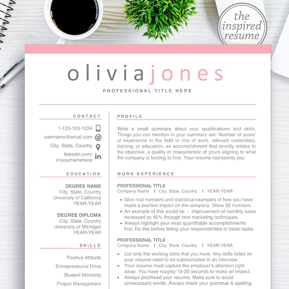 Printable Resume Cv Design For Word And Mac Pages Clean Resume Templates Resume Template Bundle With Cover Letter Free Icons Downloadable