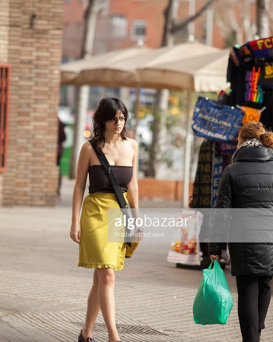 047af6e57f684 Prada ruffled skirt