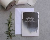 "Condolence folding card ""sincere sympathy"" - black"