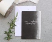 "Condolence folding card ""we say goodbye"" - black"