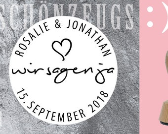 Stamp Wedding We say yes:) personalized