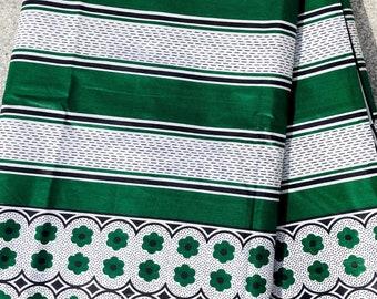 "African Fabric: Khanga nzito ""Stripes"", Sling, Tanzania Khanga, Beach Towel, Changing Cloth, Lesso, Cotton Fabric, Stripe Pattern"