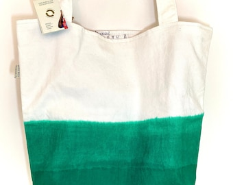 recycled dip-dyed dhow sail bag, shoulder bag, fabric bag made of recycled materials, beach bag, shopper, shopping bag reversible