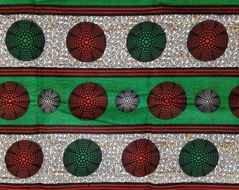 """Wax print, fabric in Tanzania, African fabric, 0.5 m, wax print, cotton fabric patterned, African fabric: kitenge """"circles"""""""