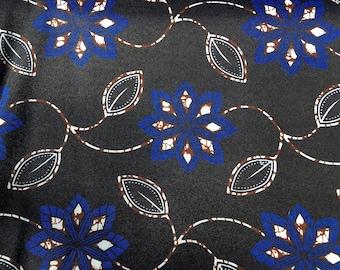 """Wax print, fabric in Tanzania, African fabric, 0.5 m, wax print, cotton fabric patterned, African fabric: kitenge """"ice flower"""""""