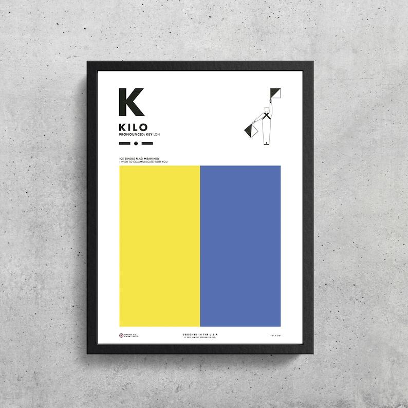 Signal Flag K Kilo K Phonetic Alphabet Morse Code Etsy
