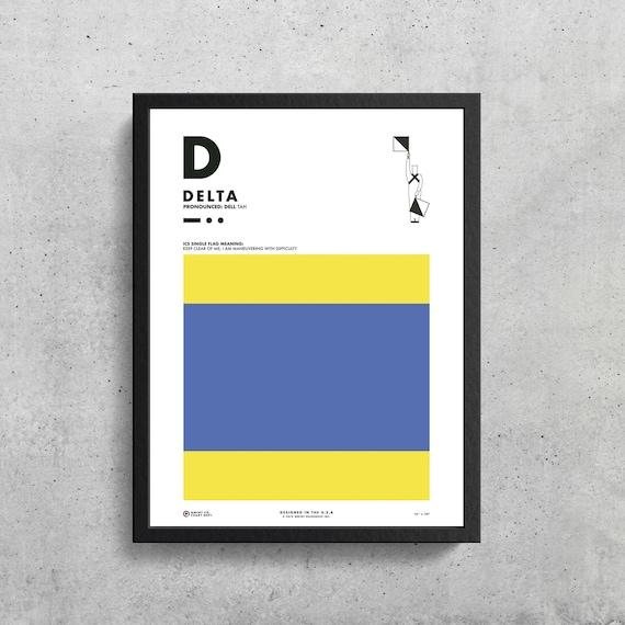 Signal Flag D Delta D Phonetic Alphabet Morse Code Etsy