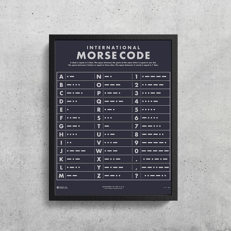 graphic relating to Printable Morse Code Chart named Morse Code Alphabet Printable Morse Code Chart Wes Anderson  Realize Morse Code Titanic Ham Radio Morse Code Solution