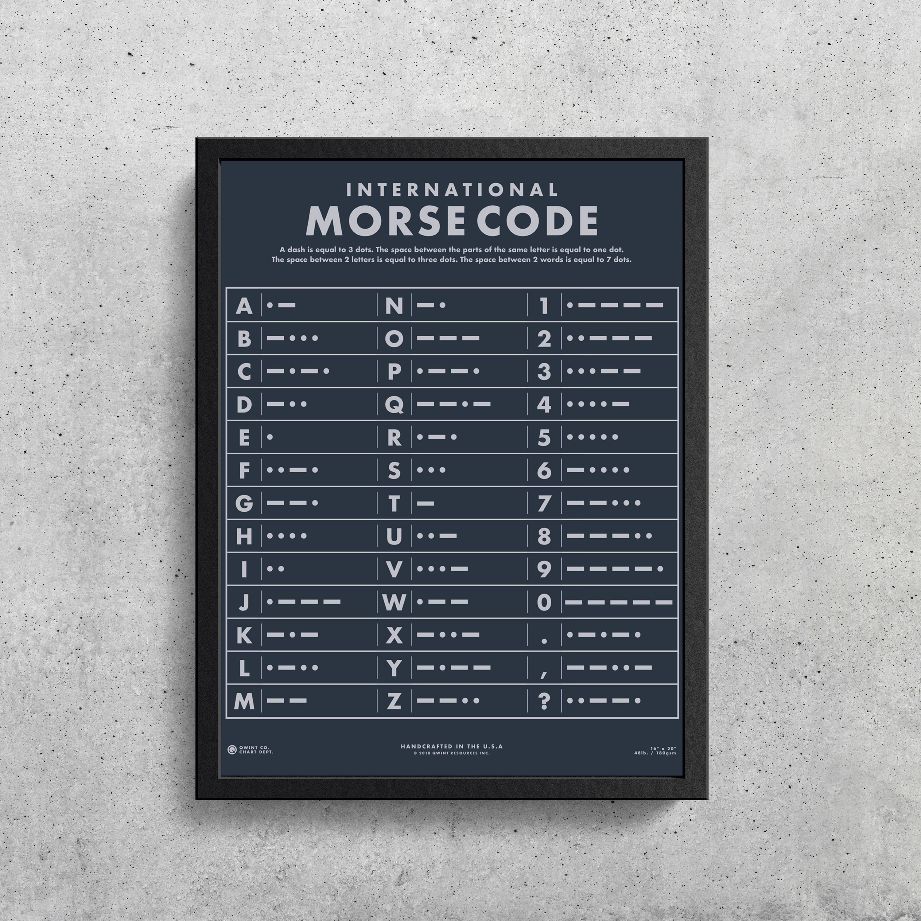 Morse Code Alphabet Printable | Morse Code | Wes Anderson | The Walking  Dead | Gifts for Dad | Mid Century Modern | Home Decor