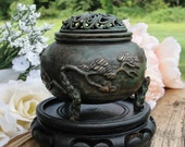 Japanese Bronze Koro Late Meiji (early 1900s) Antique