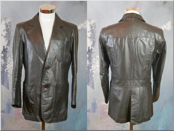 1980s Brown Leather Bomber Jacket Made in Finland: Size 1214 US Women/'sEuropean Vintage 1618 UK