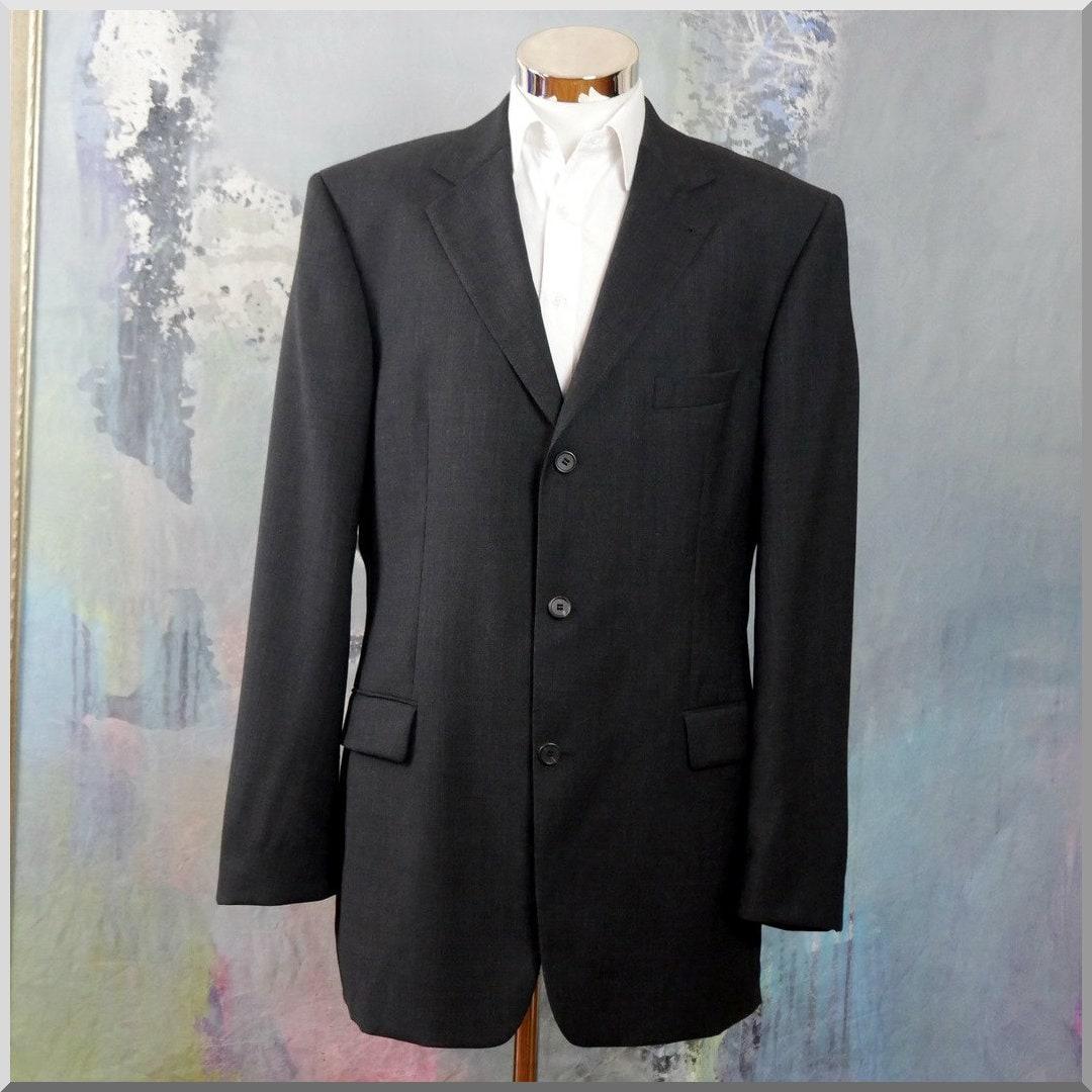 Vintage Hugo Boss Blazer, pure laine vierge italienne des années noir 1990  rétro Super 120 ff5d80733fe