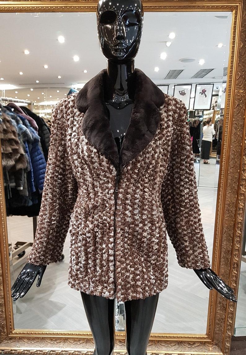 e1793807f 90s Zuki Vintage Persian Lamb Sheared Beaver Designer Fur Coat | Etsy