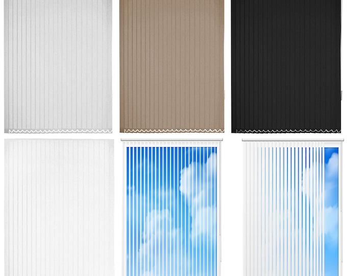 Lamella erow vertical blinds slats Black Cream Grey Sand Brown Colors Sliding Curtain Dikey Lens Perde Vertikel Curtains Eye Light