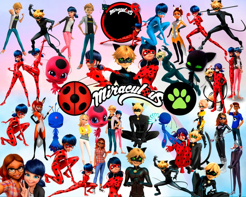 It is an image of Zany Miraculous Ladybug Clipart