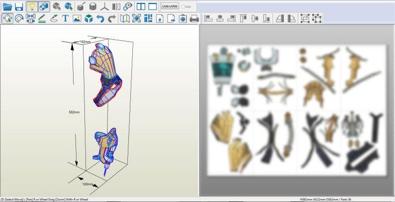 DIY Patterns /& Pepakura Ajusted Ana Bastet Cosplay