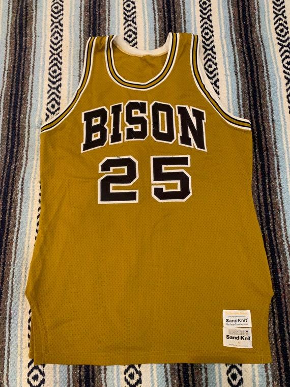 Vintage Bison's basketball jersey