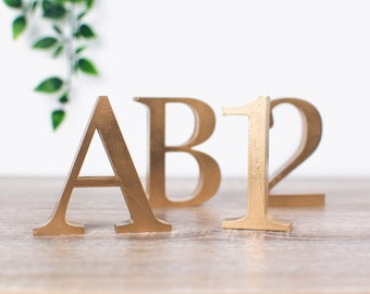 Classic Free Standing Letters and Numbers   3D Printed   Wedding Table Centrepieces   Sawford Design Studio