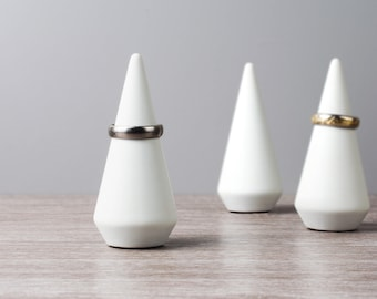 Minimalist Weighted Ring Cone   Ring Holder   Valentines Gift For Her   3D Printed   Sawford Design Studio