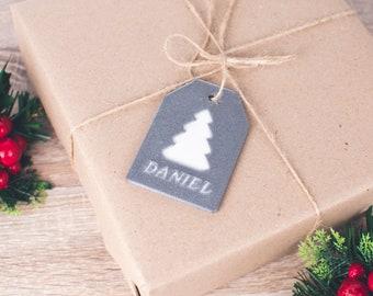 Personalised 3D Christmas Tag   Custom Parcel Wrapping   Christmas Decoration   Seasonal Gift   Sawford Design Studio