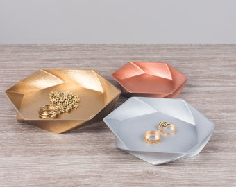 Geometric Jewellery Dishes   Jewellery Storage   3D Printed   Sawford Design Studio