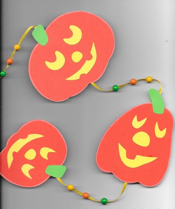 Fensterkette Kurbis Herbst Halloween Fensterdeko Etsy