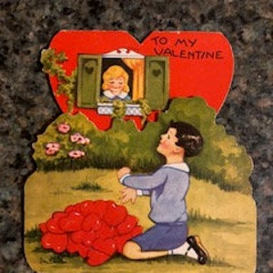 Items Similar To Valentines Cards Vintage Valentine Cards Five Old
