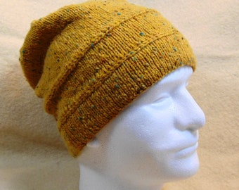 9219cceffe1 Gold Tweed Knit Hat
