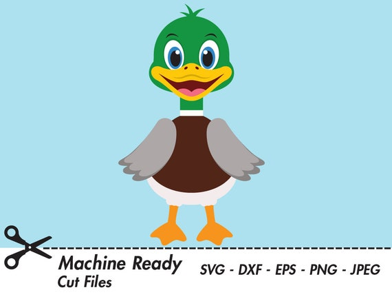 Fuzzy Duck Going Fishing - Royalty Free Clip Art Picture