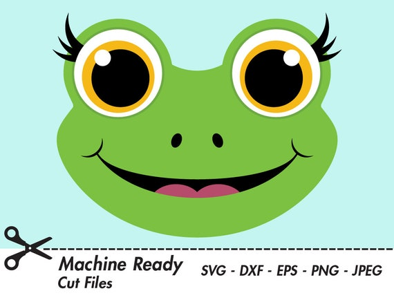 Jolie Grenouille Coupe Fichiers Svg Png Grenouille Clipart Etsy