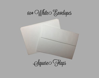 25 x A7 White 100 GSM High Quality Australian Made Party Greeting Card Envelopes