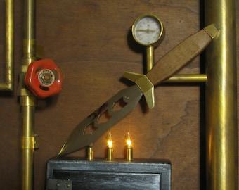"Steampunter knife ""Rocketeer"""