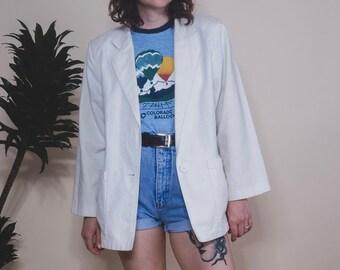 a975f0dfddda4b Miami Vice Oversized White Linen Blazer