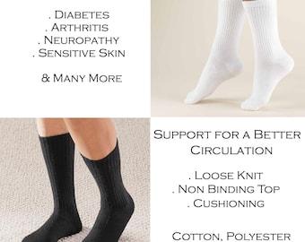 b9ed8aa4792 Unbeneath Unisex Amazing Cotton Diabetic Crew Socks - 2 Pairs.