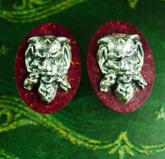 Vintage Devil Cufflinks / Hickok jewelry / bakelit