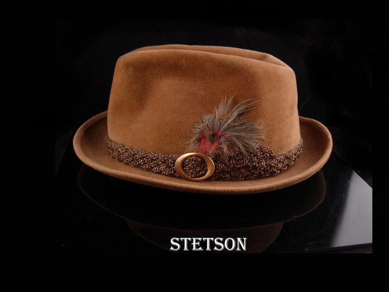 Vintage Stetson Hat John B Heritage The Sovereign tan  bd47a56f1f3a