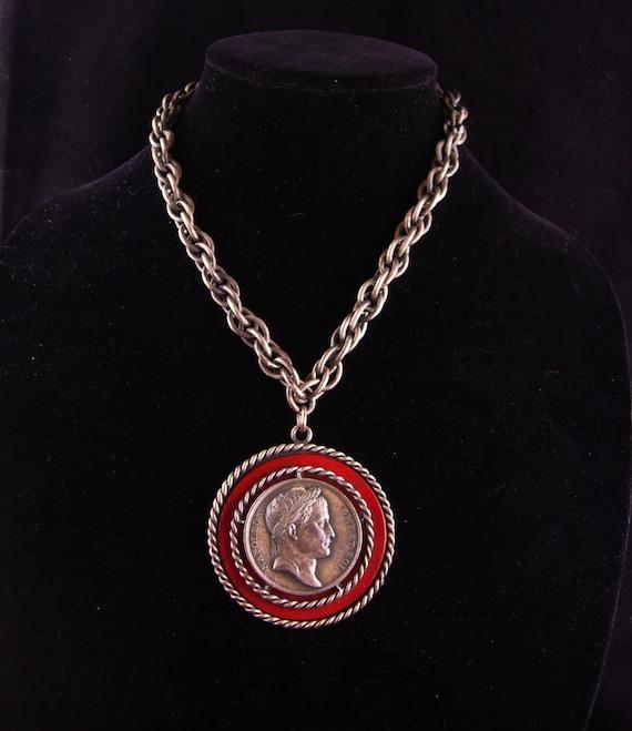 Vintage Napoleon necklace / coin jewelry / Bonapar
