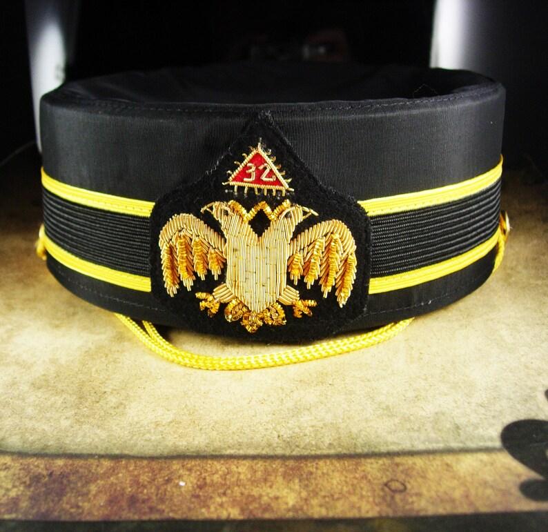 bb5468f8073 Masonic 32nd Degree hat Scottish Rite Cap Masonic hat Size 7